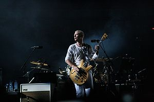 Adam Clayton - Clayton with Warwick Star Bass in 2010
