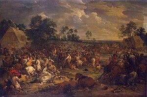 Adam Frans van der Meulen - Battle scene, 1657