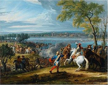 Ludwig XIV. bei der Überquerung des Rheins