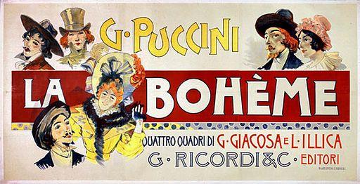 Adolfo Hohenstein - La Bohème 1895