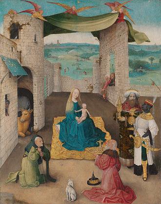 Jhieronymus Bosch - Visions of genius (exhibition) - Image: Adoration of the Magi Hieronymus Bosch autograph ca. 1470–75 (NY)