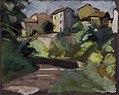 Adrien Bas - Hameau dans les Monts d'Or, pastel sur papier gris.jpg