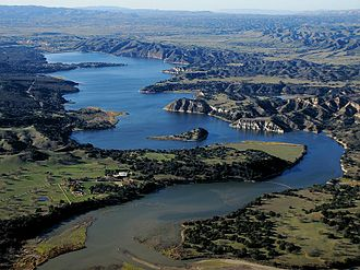 Lake Cachuma - Image: Aerial Lake Cachuma East End