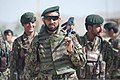 Afghan National Army Maj. Wali Jan, center, the commander of the 4th Tolai, 1st Kandak, 1st Brigade, 203rd Corps, leads fellow soldiers out of Combat Outpost Baraki Barak for a presence patrol and resupply 130522-Z-QE403-011.jpg