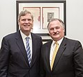 Agriculture Secretary Tom Vilsack (left) meets with National Corn Growers Association President Fred Yoder, at the U.S. Department of Agriculture in Washington, DC, Thursday, April 11, 2013.jpg