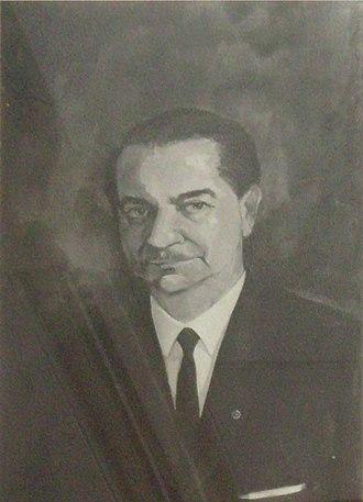 Paul Ghalioungui - Paul Ghalioungui painting in Ain Shams University Hospital Central Library, Cairo