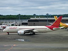 Air India Boeing 787-8 In Narita International Airport.jpg