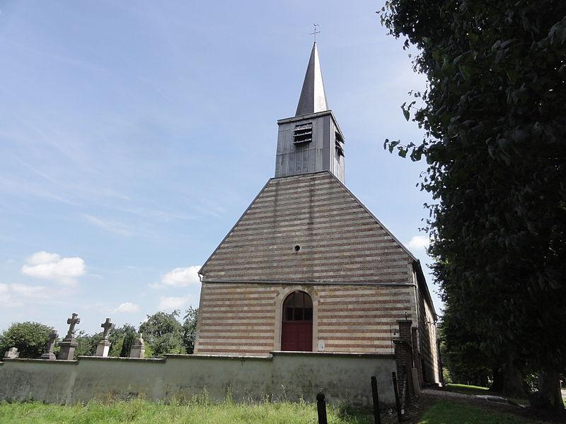 Aisonville-et-Bernoville (Aisne) église du cimetière
