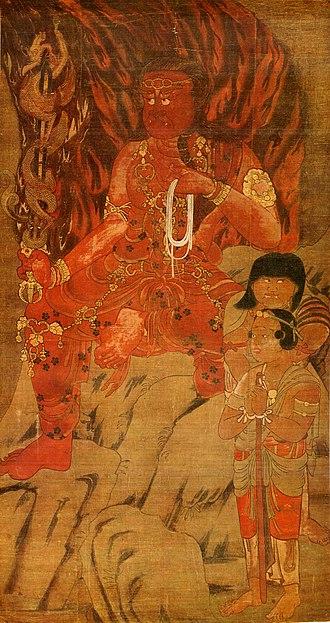Acala - The Akafudō, Myō-ō'in temple, Mount Kōya, Heian period