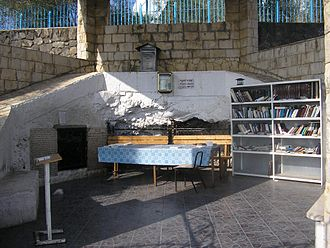 Kabbalah - Grave of Rabbi Akiva in Tiberias. He features in Hekhalot mystical literature, and as one of the four who entered the Pardes