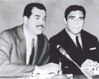 Adnan Al-Kaissie - Al-Kassie with Saddam Hussein in the early 1970s