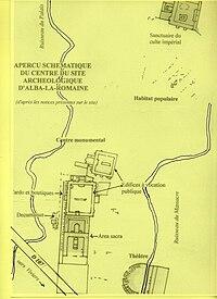 Alba-la-Romaine, carte du site archéologique.JPG