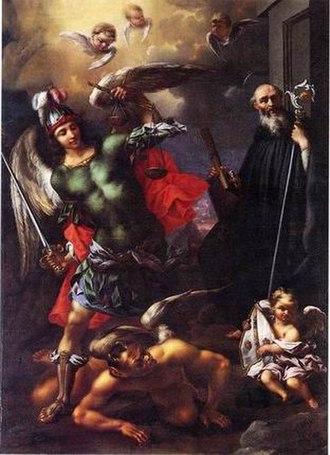 Alessandro Rosi - Archangel Michael, and St. Benedict, ca. 1665
