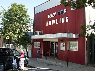 Radville - The theatre that became a bowling alley.