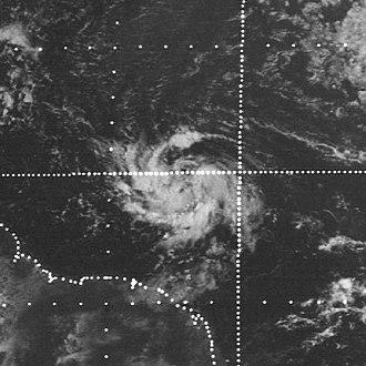 1974 Atlantic hurricane season - Image: Alma 1974 08 13 1230Z