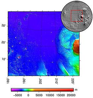Amazonis Planitia - Image: Amazonis planitia topo