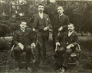 Herman Casler - First meeting of the members of the K.M.C.D. Syndicate on September 22, 1895, from left: Henry N. Marvin, William Kennedy Laurie Dickson, Herman Casler, and Elias Bernard Koopman