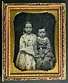 American quarter-plate daguerreotype of two young children, ca 1850 (8217660255).jpg