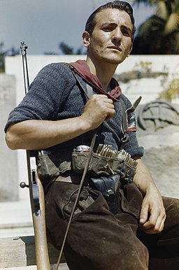An Italian partisan in Florence, 14 August 1944. TR2282