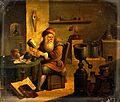 An alchemist in his laboratory. Oil painting by a follower o Wellcome V0023502.jpg