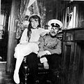 Anastasia & an officer onboard the Standart.jpg