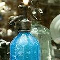 Anchor Bottling Works siphon bottle from circa 1880, Hungary, Budapest.jpg
