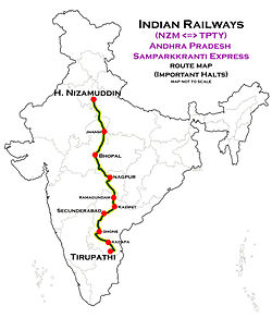 Andhra Pradesh Samparkkranti Express (NZM - TPTY) Route map.jpg