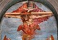 Andrea del castagno, trinità e san girolamo tra le ss. paola ed eustochia, 1453-54 ca. 02.jpg