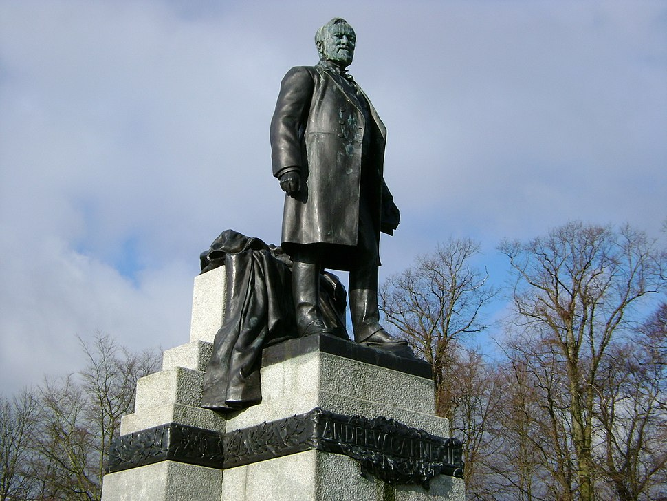 Andrew Carnegie's statue, Dunfermline