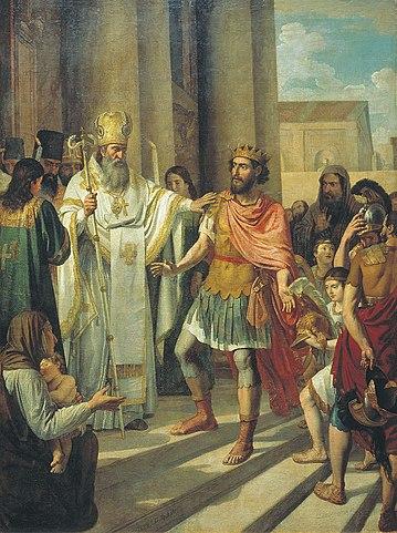 Андрей Иванов. Крещение великого князя Владимира в Корсуни, 1829