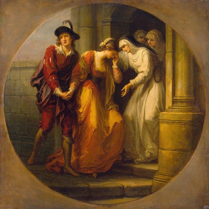 Ангелика Кауфман. Прощание Абеляра с Элоизой. Изображение из Википедии