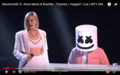 Anne-Marie and Marshmello at piano in 2018.png