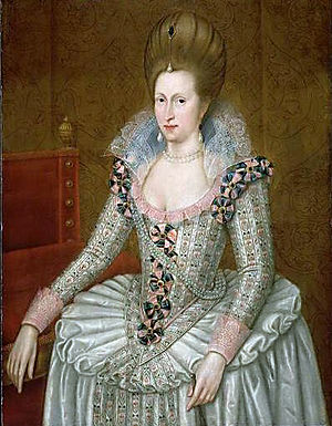 Anne of Denmark - Portrait by John de Critz (1605)