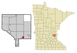 Anoka Cnty Minnesota Incorporated and Unincorporated areas CirclePines Highlighted copy.png