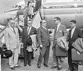 Antilliaanse delegatie op Schiphol Lompe, Jonckheer, Korthals, Iromsquin, Isa, Bestanddeelnr 912-5200.jpg