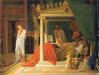 The Illness of Antiochus - Image: Antiochus & Stratonice Ingres Philadelphia Museum of Art