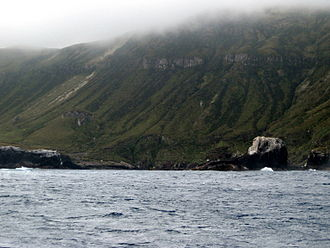 Antipodes Islands - South Bay - site of the landing of the Spirit of the Dawn survivors and the loss of the Totorore