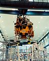 Apollo 12 LM Intrepid being moved to integration work stand.jpg