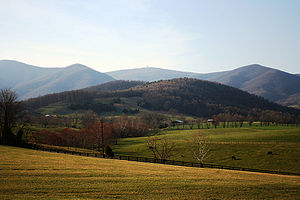 English: A view of Apple Orchard Mountain from...