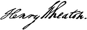 Henry Wheaton - Image: Appletons' Wheaton Henry signature