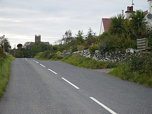 Borgue, Dumfries and Galloway - Image: Approach to Borgue from the east on the B727 road
