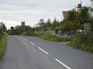 Approach to Borgue from the east on the B727 road