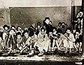 Arabian children receiving milk at school in Algeria, 1943 (27325806010).jpg