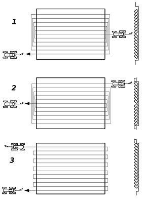 Metodi di aratura in piano1. A colmare2. A scolmare3. Alla pari