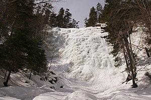 Arethusa Falls - Arethusa Falls in winter