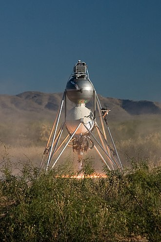 "Armadillo Aerospace - ""Mod"" vehicle taking off at LLC 2008"