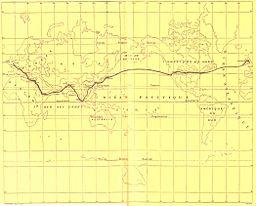 Around the World in Eighty Days - map