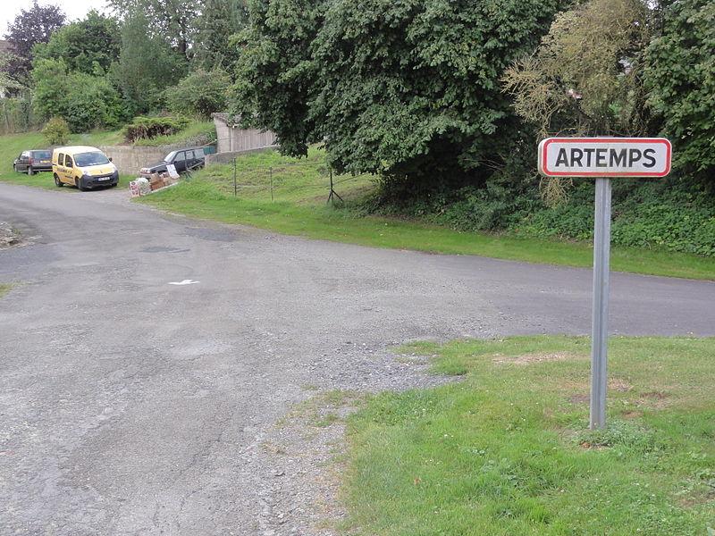 Artemps (Aisne) city limit sign