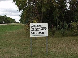Artichoke Township, Big Stone County, Minnesota - The only sign bearing the name of Artichoke, Minnesota