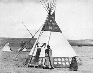 Tsuu T'ina Nation - Tsuu T'ina man and his wife